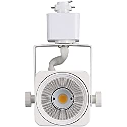 Cloudy Bay LED Track Light Head,CRI 90+ Warm White Dimmable,Adjustable Tilt Angle Track Lighting Fixture,8W 40° Angle for Accent Retail,White Finish Halo Type