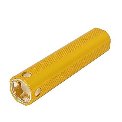 eDealMax Teléfono celular de la cáscara de aluminio Cargador DE 3 modos LED linterna USB Dorado