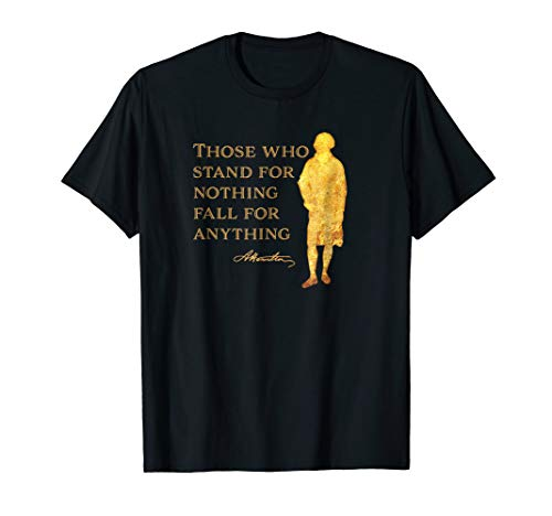 Alexander Hamilton Quote Shirt Gold Silhouette T-Shirt