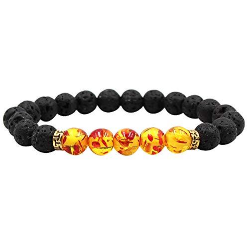 - DFYtr511po Colorful Chakra Bracelet Five Emperor Stone Tiger Eye White White Stone Yoga Bracelet Handmade Jewelry Orange