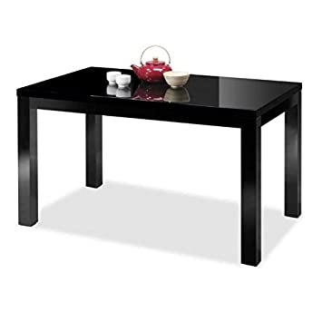Muebles Baratos Mesa de Comedor Extensible Color Negro Rectangular ...