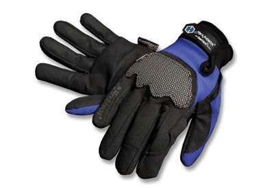 HexArmor 4018-M 4018 Ultimate L5 Synthetic Leather Palm Glove, Hexarmor, Medium, Black/Blue