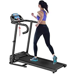 Well-Being-Matters 41%2B7mlTNLyL._SS300_ Murtisol 1100W Folding Treadmill Good for Home/Apartment Fitness Compact Electric Running Exercise Machine with Safe…