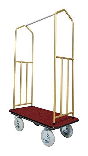 Brasstone Bellman's Cart with Red Deck by Evania Luigi Brigitte