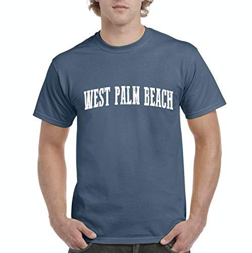 Mom`s Favorite Florida State Flag West Palm Beach Men's Short Sleeve T-Shirt (XLIB) Indigo Blue (Indigo Beach Palm)
