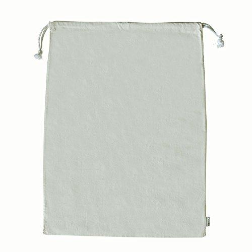 [Augbunny 100% Cotton Canvas Travel Laundry Bag, 2-Pack] (100% Cotton Canvas Bag)