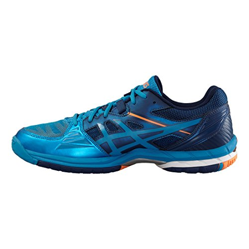 Asics Gel-Volley Elite 3, Zapatillas de Voleibol para Hombre bleu/blanc/orange