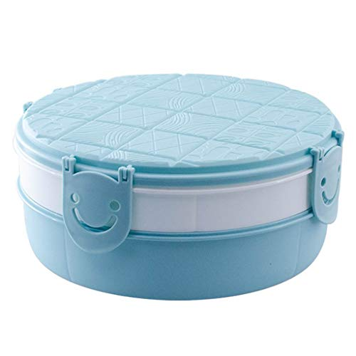 Loprt Household Creative Round Chocolate Styling Compartment with Lid Candy Box ()
