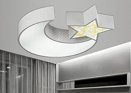 Illuminazione Soffitto Camera Da Letto : Lyxg lampada da soffitto led luci ragazzi e ragazze luna stelle