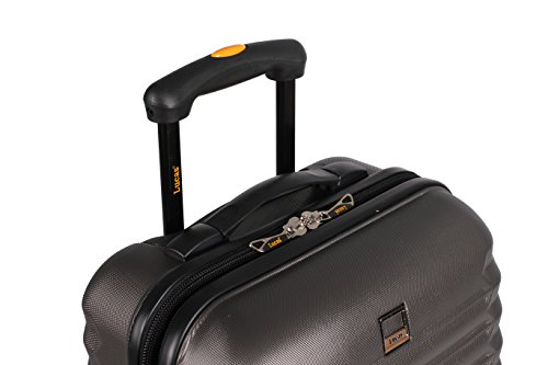 d332c96fc Lucas ABS Large Hard Case 28 inch Checked Suitcase With Spinner Wheels  (28in, Charcoal