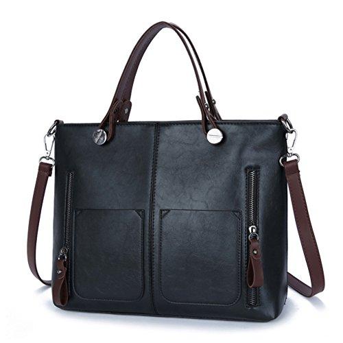 à léger à sac sac tendance grand Belle main pour capacité Utile Noël Femme et bandoulière joli Noir Cadeau pratique qxHfzwx5