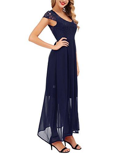 Vestidos de Mujer Azul Boda Vestido Fiesta Vintage Marine Largo Chiffon FISOUL XqIfwBB