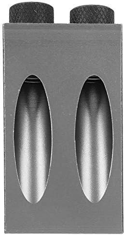 木工穴ロケーター、15度木製斜めドリルガイドポジショナーポケット6 mm穴ロケーターキット