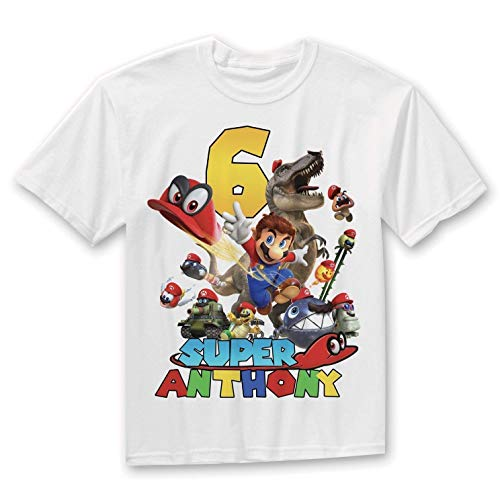 Super Mario Birthday Shirt, Mario Odyssey Birthday Shirt, Super Mario Odyssey Party, Personalized Birthday t-shirt, Custom Family Shirts ()