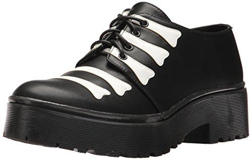 Iron Fist Women's Wishbone Cleated Sole Flat, Black, 7 Standard US Width US (Iron Fist Flats Size 7)