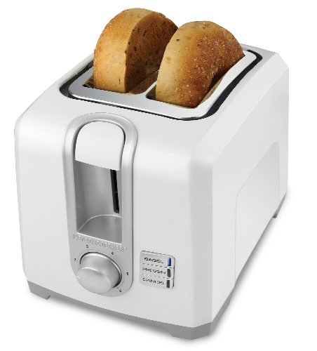 BLACK+DECKER T2569 2-Slice Toaster, Bagel Toaster, White