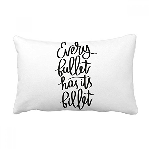 DIYthinker Every Bullet Has Its Billet Quote Throw Lumbar Pillow Insert Cushion Cover Home Sofa Decor Gift ()