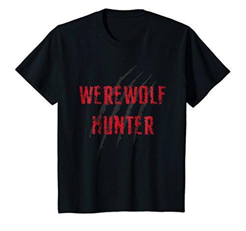 Kids Werewolf hunter halloween costume for man and woman 6 Black ()