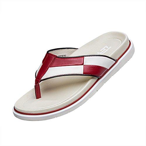 ZRO Men's Fashion Beach Flip Flops Comfortable Summer Sandals White US 8.5 by ZRO