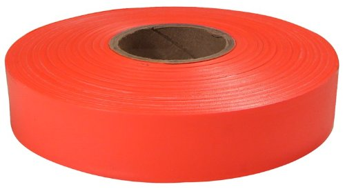 12 Pack Empire Level 77-062 600' x 1'' Roll Flagging Tape Glo-Orange