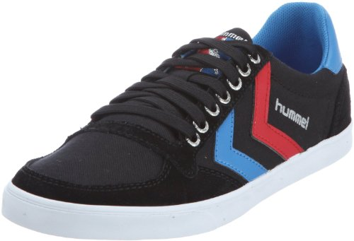 Hummel Slimmer Stadil Lo Canvas Black Red Blue Mens Trainers Boots