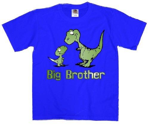 Youth T-Shirt: Big Brother Dinosaur Blue XL (18-20)