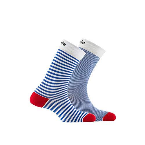 Fil Achile Rouge D'écosse Mi chaussettes Blanc En Dépareillées rIw64Iq