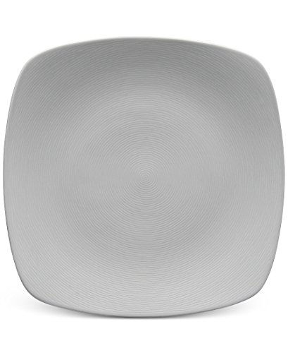 Noritake Swirl Square Dinner Plate GoG Grey