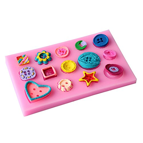 Girls Space Silicone Cake Fondant Mold Baking Cake Mould Baking Modeling Tools (Diamond Buttons)