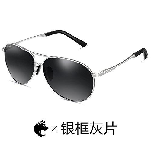 polarizadas de Black conducción Bobbi personalidad de Definition KOMNY Frame High sol de Ash hombres de dorado Silver sol gafas gafas en Gafas Gafas polvo sol de controlador marco pionero qOxAIz