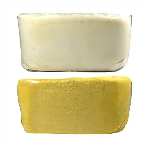 Process Shea Butter - 10lb Raw African Shea Butter Combo 5lb Ivory & 5lb Yellow