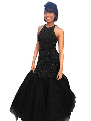 Modèles De Perles À Chaud Tbgirl Robes De Bal Dos Ouvert Robes De Soirée Longue En Organza Noir