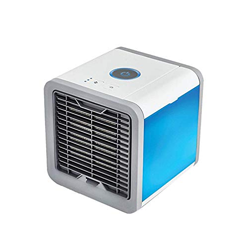 Portable Air Conditioner Mini Fan- Personal Mini Air Conditioner, USB Portable Personal Space Air Cooler Humidifier Purifier with 7 Colors LED 3 Fan Speeds, Cooling Fan for Office Home Outdoor by Double-H-W