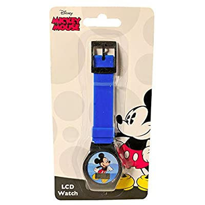 KidPlay Products Mickey Mouse LCD Digital Wrist Watch Blue Strap: Toys & Games