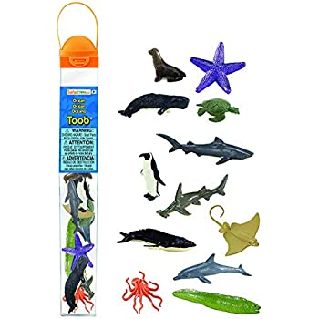 ad8410a5c4a572 Safari Ltd Ocean TOOB Comes With 12 Different Hand Painted Animal Toy  Figurine Models Including Sea