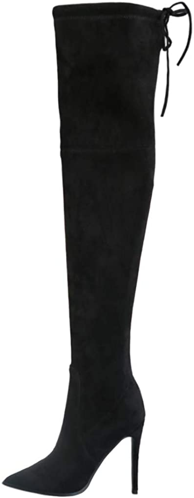 JOY IN LOVE Women's Microsuede Over Knee Boots High Cheap mail order shopping store The Heels
