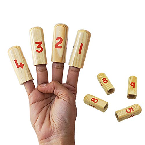 (Skola Number Finger Puppets - Play with Numbers on Your Fingers - Wooden Educational Learning Toy for 3 to 6 Year Old)