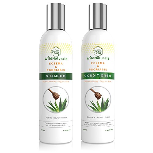 Sauvage Naturals Eczéma et le psoriasis Restauration Shampoo & Conditioner Set, 8 oz