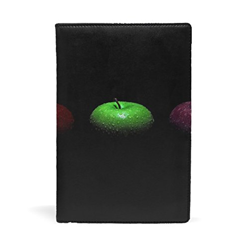 Apples Shades Black Green Red Claret Leather Stretchable Book Covers Durable And Reusable For Nylon Fabric Hard Cover Schoolbooks Notebooks Textbooks Men Women ( 9x11 (Claret Shades)