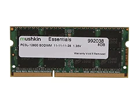 Mushkin ESSENTIALS Series – DDR3 DRAM – 8GB Memory Single SODIMM – DDR3L-1600MHz (PC3L-12800) CL-11 – 204-pin 1.35LV Laptop Notebook RAM – Low-Voltage – (Sdram Ddr3l De 8 Gb A 1600 Mhz)