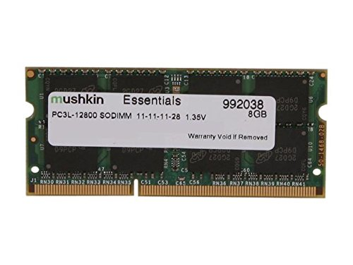 Mushkin ESSENTIALS Series – DDR3 DRAM – 8GB Memory Single SODIMM – DDR3L-1600MHz (PC3L-12800) CL-11 – 204-pin 1.35LV Laptop Notebook RAM – Low-Voltage – 992038 by Mushkin