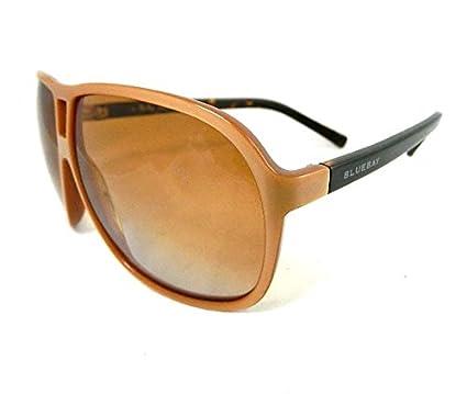 0c337e9923a811 BLUEBAY Vintage4 W4RCM Étui pour lunettes de soleil Marron-Perle marron  conçues en Italie NEW