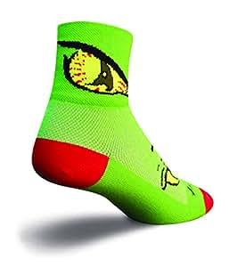 SockGuy Classic 3in Monster Eat Me Cycling/Running Socks (Eat Me - S/M) Size Medium
