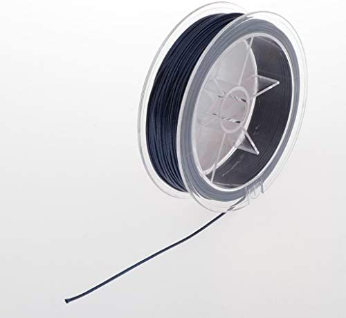 IPOTCH 20 Metros De Hilo De Cuero Encerado Pulsera De Hilo Collar De Cuerda De Alambre para La Fabricación Y Fabricación De Joyas - Azul Profundo: Amazon.es: Hogar