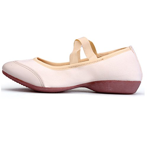 Sohle Obermaterial Kunstturnschuhe Ballett Damen Gymnastikschuhe Oxford Canvas Tanzschuhe Schuhe Mädchen Weiß DorkasDE xRv8awqq