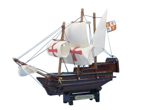 Hampton Nautical  Santa Maria Tall Model Ship, 7