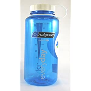 NALGENE Tritan Wide Mouth 32oz Water Bottle - Blue w/ White Cap