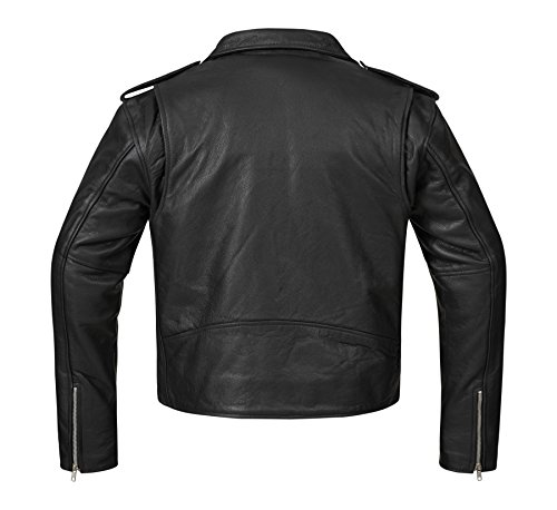 Bohmberg Premium- Chaqueta pesada de motociclista 100% cuero duradero para hombre - L: Amazon.es: Coche y moto