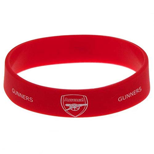 Arsenal FC Official Silicone Wristband (One Size) (Red)