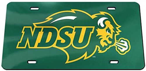 Dakota Crystal - Wincraft North Dakota State 03676117 Crystal Mirror License Plate